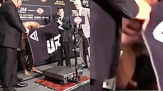 Daniel Cormier Naked Boxing Weigh In Exposed (w/ Zoom   Slow Mo)
