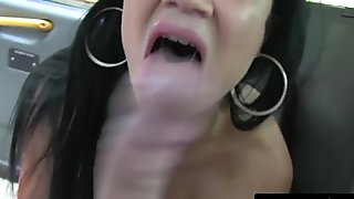 Beautiful babe sucks cock before pussy fucking