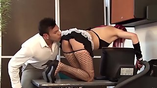 SANTA LATINA - Colombian maid gets fucked by her boss