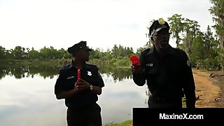 Cambodian Cop Maxine X Fucked By 7 Big Black Zombie Cock