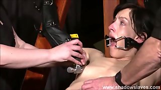 Tied Elise Graves pussy punished and hardcore bdsm of enslav